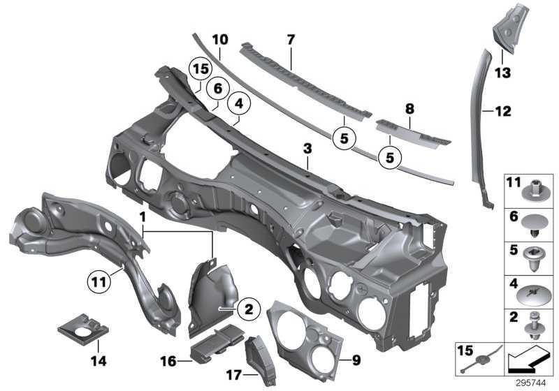 Schallisolierung Stirnwand Oberteil  X1  (51482990770)