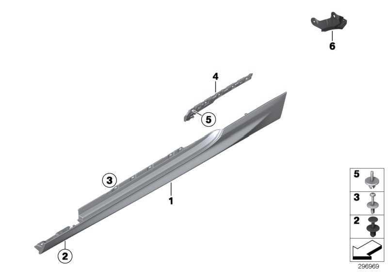 Abdeckung Schweller grundiert links M               6er  (51778050417)