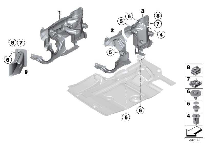 Abdeckung Lenkgetriebe rechts  7er 5er 6er  (51757185170)