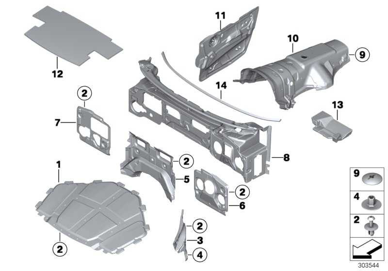 Schallisolierung Frontklappe  X5 X6  (51487158420)