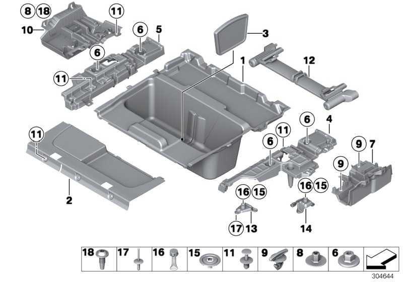 Ablagewanne Gepäckraumboden hinten  3er  (51477349391)