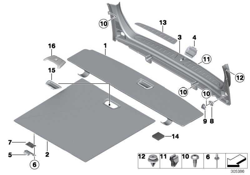 Einlegeboden Gepäckraum hinten SCHWARZ         3er  (51477311432)
