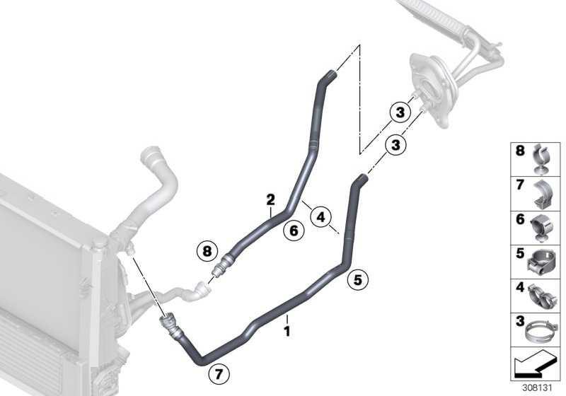 Schlauch Heizkörper-Motorvorlauf  1er 2er 3er 4er  (64219208169)