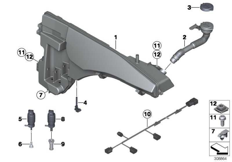 Waschpumpe  X5 X6 7er Z4 5er X3 6er X4  (67126934160)