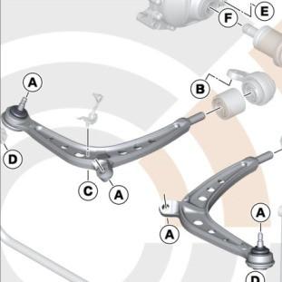 BMW Querlenker Reparatursatz 3er E46