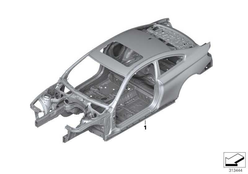 Karosserie-Gerippe ohne FG.-Nummer BASIS           4er  (41008060251)
