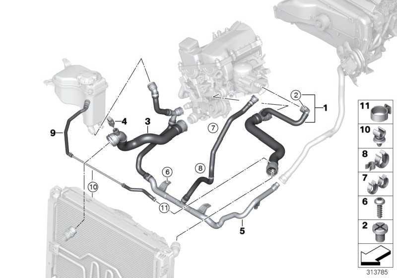 Schlauch Motor Vorlauf-Kühler oben-  1er  (17127525023)
