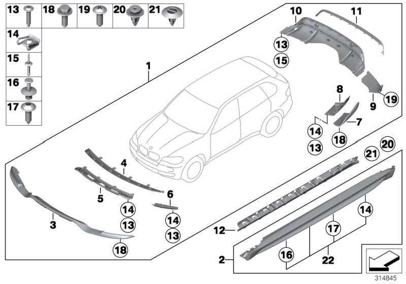 Performance Aerodynamik-Paket lackiert CODE UNI/MET. X5  (51192182826)