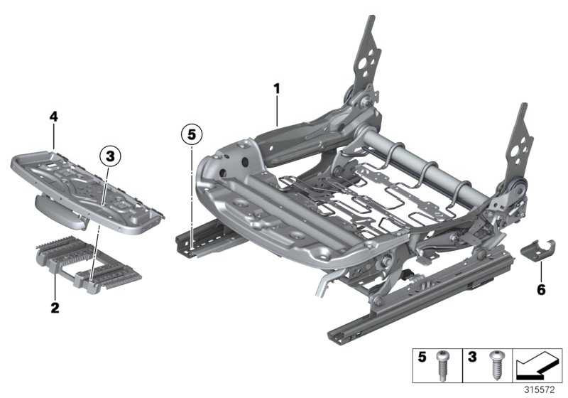 Sitzmechanik Basissitz links  1er 3er 4er  (52107243523)