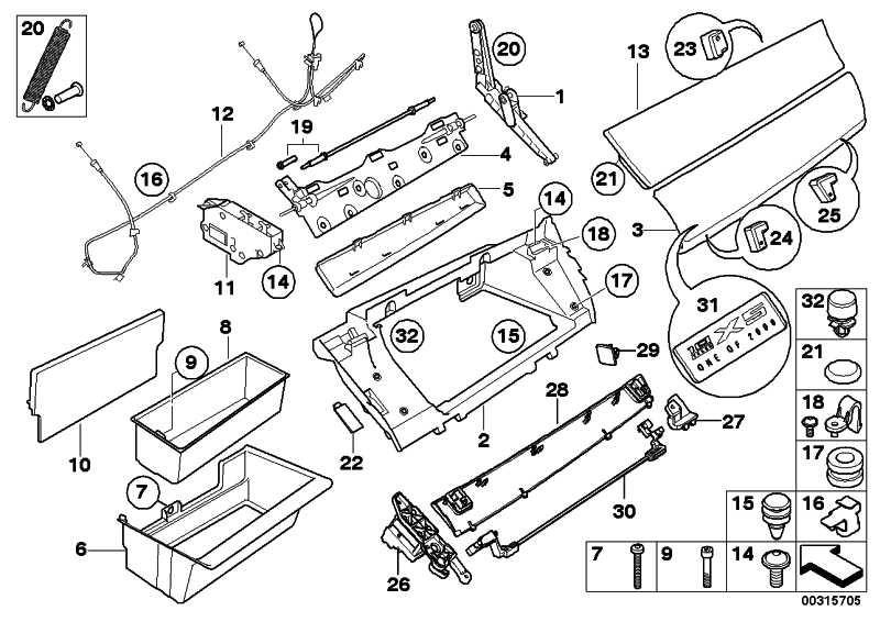 Scharnier Handschuhkasten  X5 X6  (51169114127)