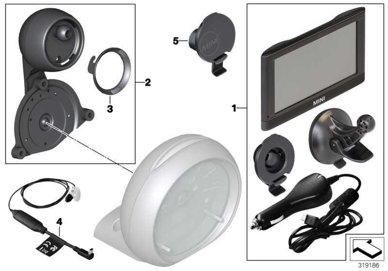 Einbausatz Navigation Portable XL              MINI  (65902351406)