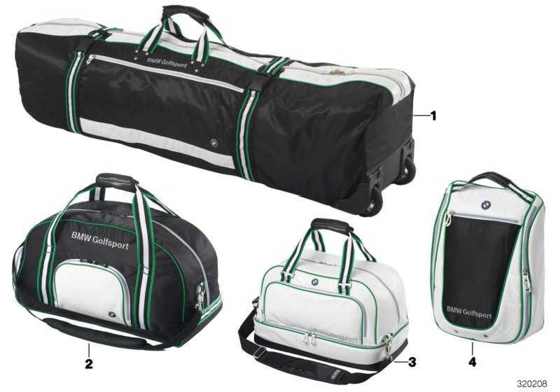 BMW Golfsport Golfschuhtasche WHITE/BLACK      (80222333799)