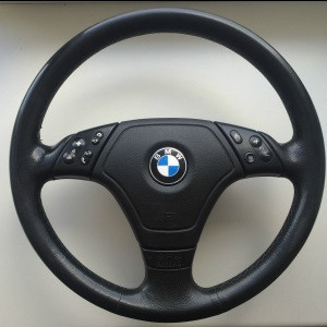 BMW Sportlenkrad Airbag Leder 3er E46 Coupé Limousine Touring mit Sport-/MFL-Lenkrad/Geschw.Regelung