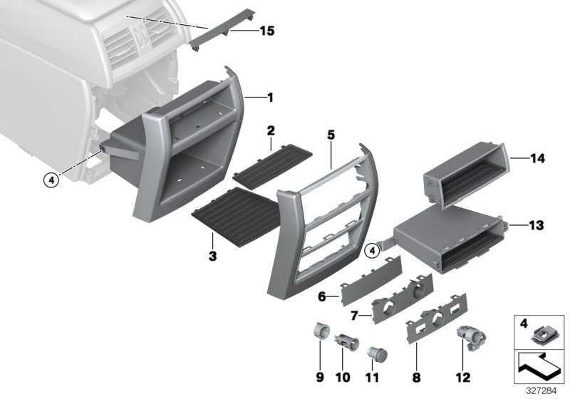 Blende Steckdose und Schalter  X5 X6  (51169252010)