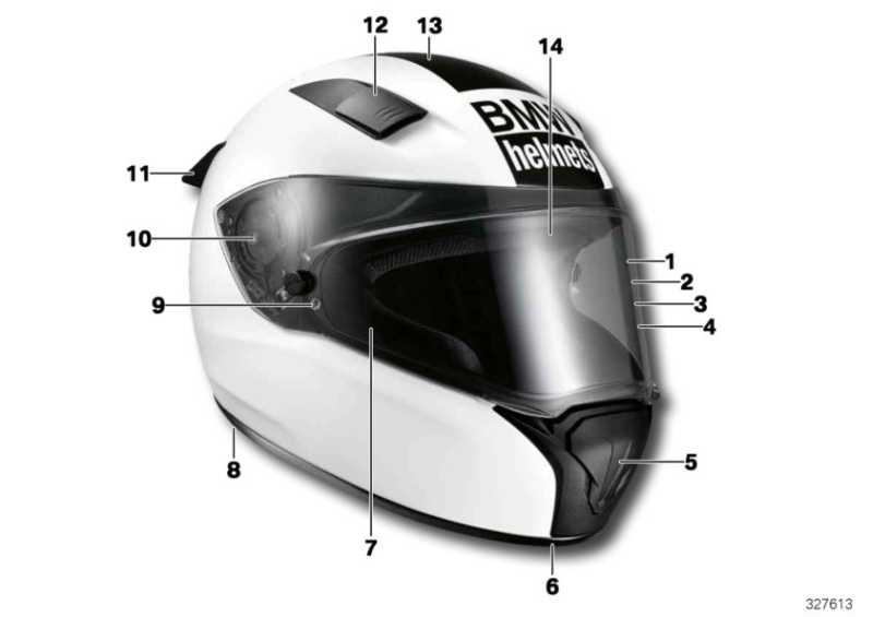 Kinnspoiler Helm Race kurz 52-59  (76318545837)
