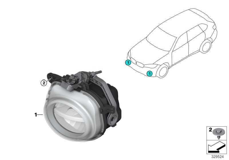 Nebelscheinwerfer LED links  X3 X5  (63177317251)