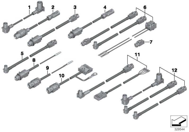 HSD - Leitung Aussenspiegel  3er 4er 5er 6er 7er X3 X5 X6  (61129281712)