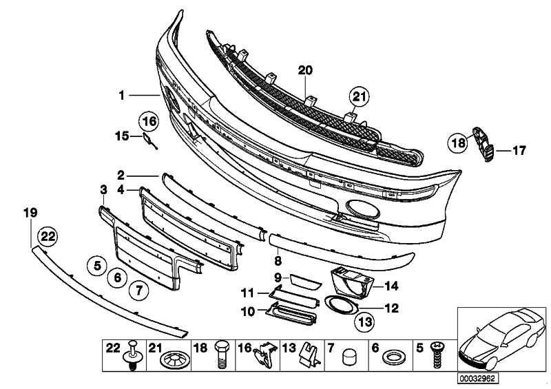 Stossleiste Stossfänger vorne Mitte  3er  (51118195304)