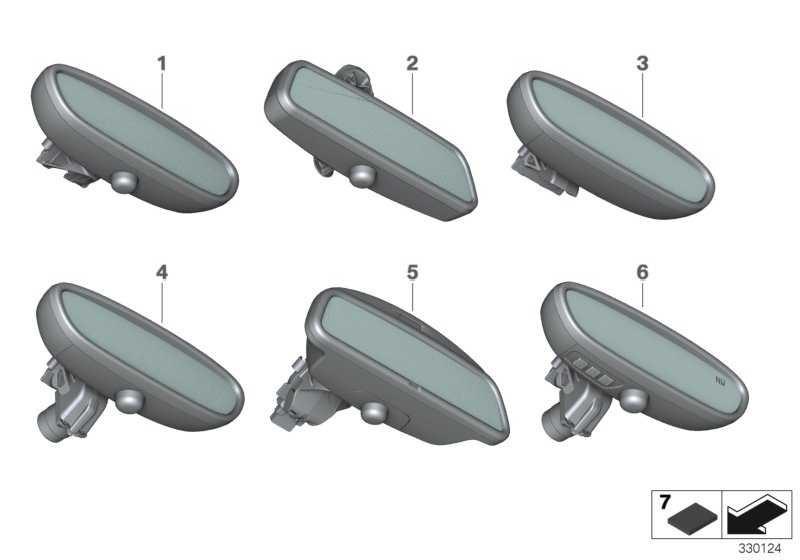 Innenspiegel EC  1er 2er X1  (51169256134)
