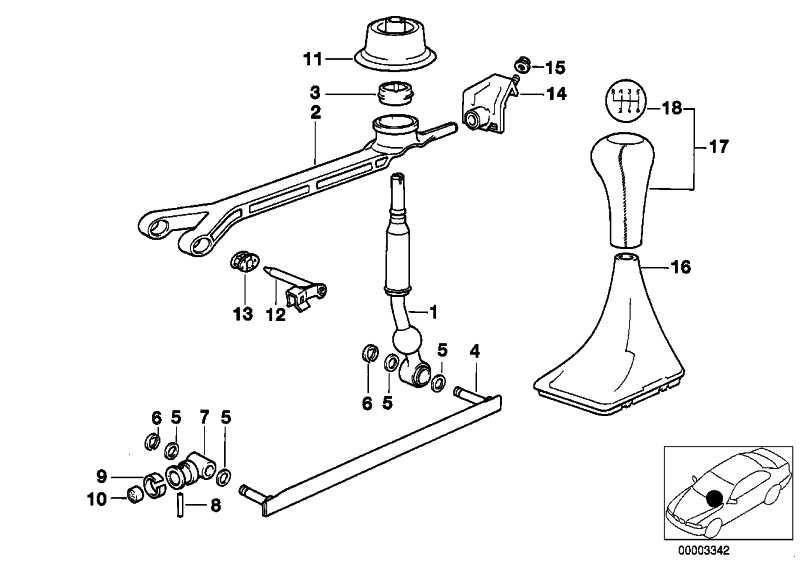 Schaltknopf Leder/6-Gang SCHWARZ         3er 5er 6er X5 Z4  (25117523817)