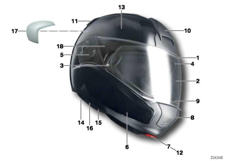 Wangen/Nackenpolster Helm 6 64/65 XL  (72607722631)