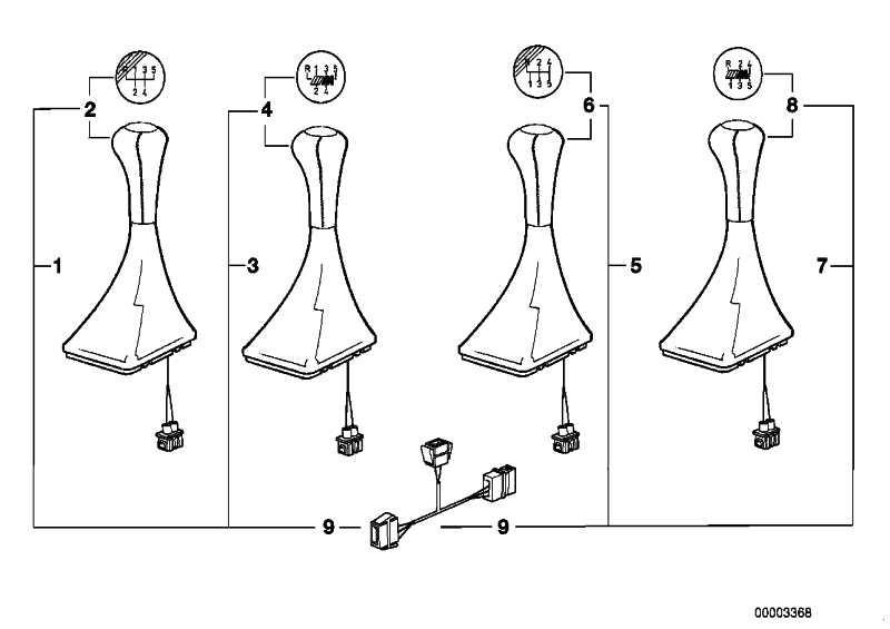Nachrüstsatz Schaltknopf Leder beleucht. M TECHNIC       3er  (25112231562)