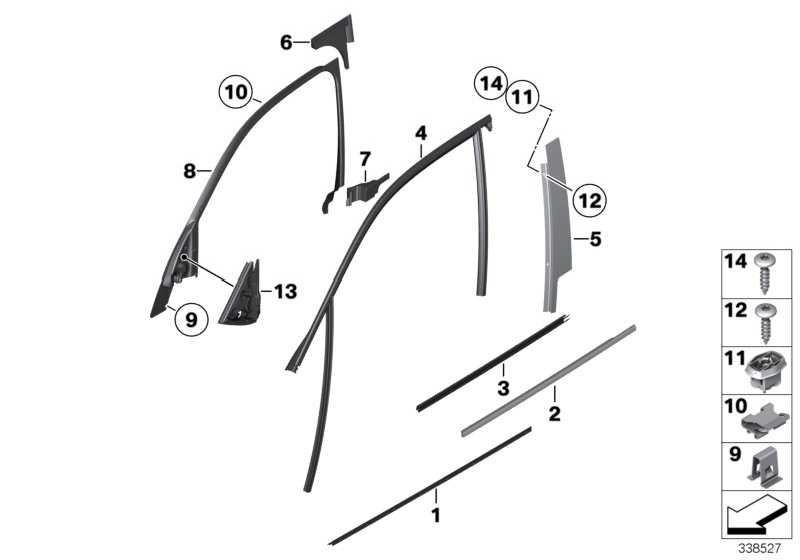 Abdichtung Blende B-Säule rechts  X1  (51332990558)
