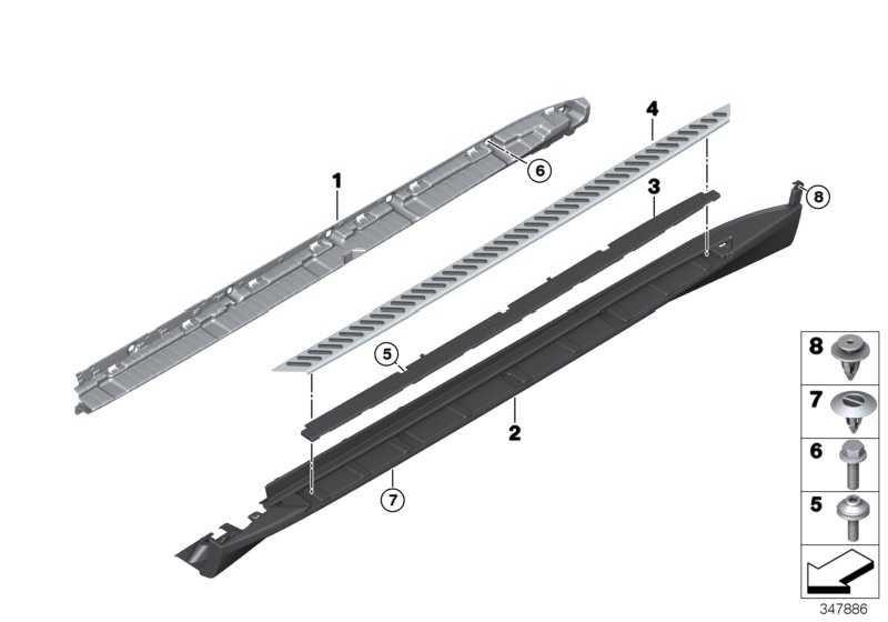 Abdeckung Schweller Trittbrett rechts SCHWARZ         X5  (51777294380)