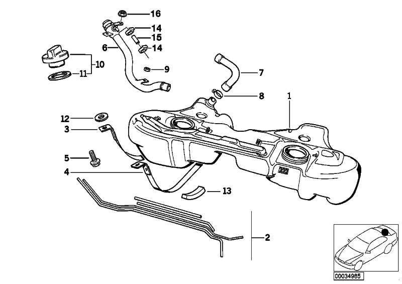Satz Anbauteile Kraftstofftank  3er  (16111181361)