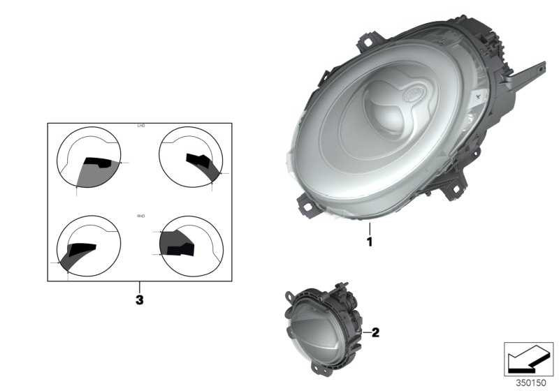 Scheinwerfer LED rechts  MINI  (63117383210)