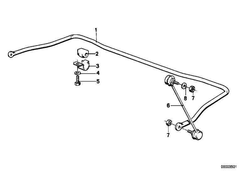 Haltebügel Stabilisator  3er 5er 6er 7er Z3 Z4 Z8  (33506779734)