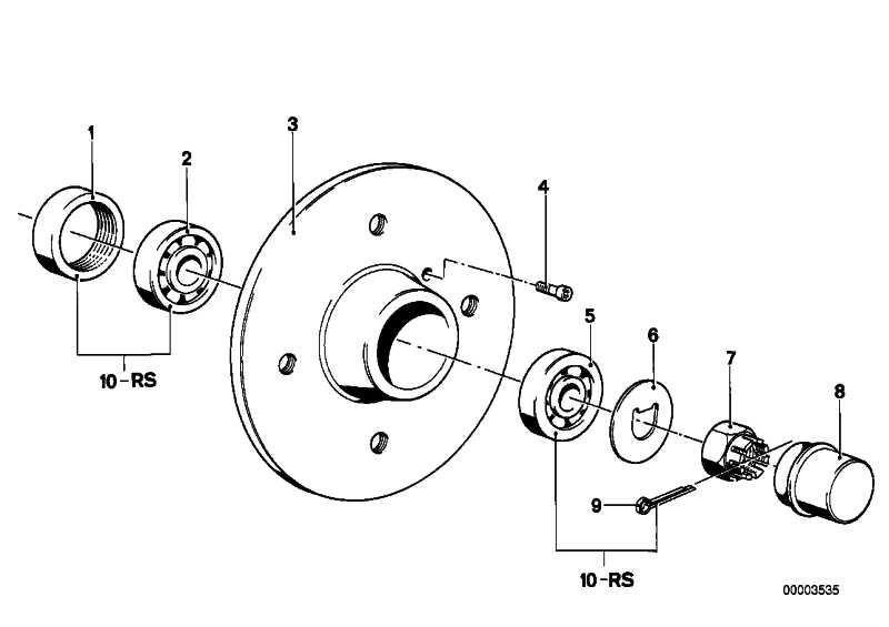 Reparatursatz Radlagerung   3er 5er 6er  (31211107456)