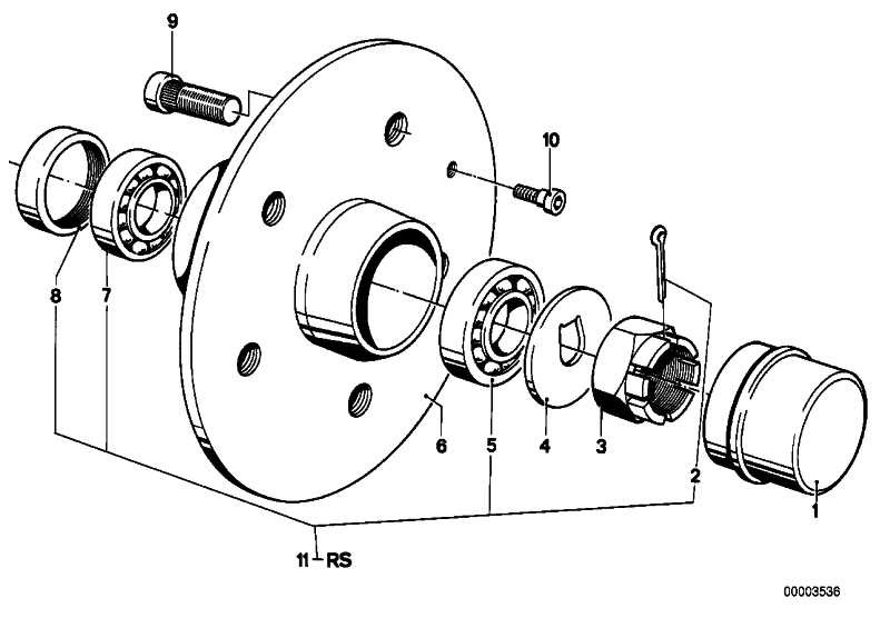 Zylinderschraube M6              5er 3er 6er  (34111117461)