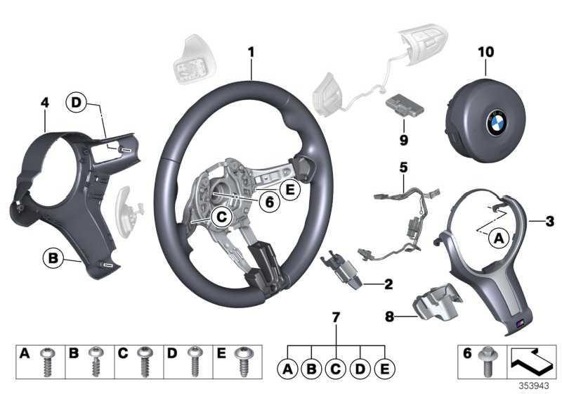 M Sportlenkrad Leder  X3 X5 X4 X6  (32307847454)