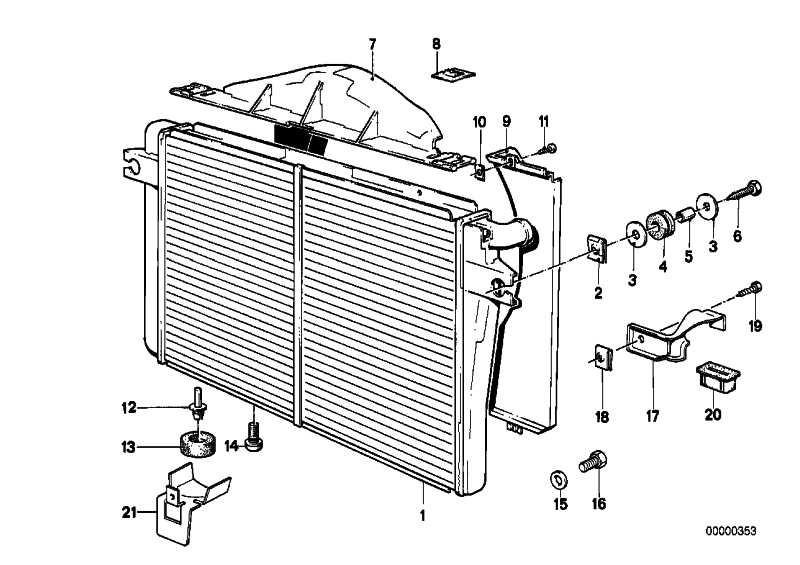 Kühlmittelkühler A=575MM         5er 6er  (17112226082)