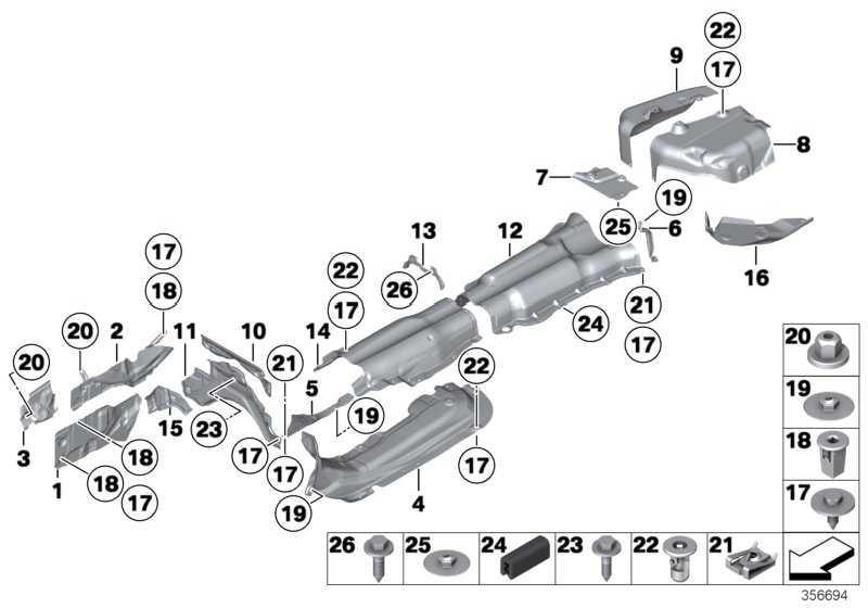 Wärmeisolierung Nachschalldämpfer rechts  5er  (51487193500)