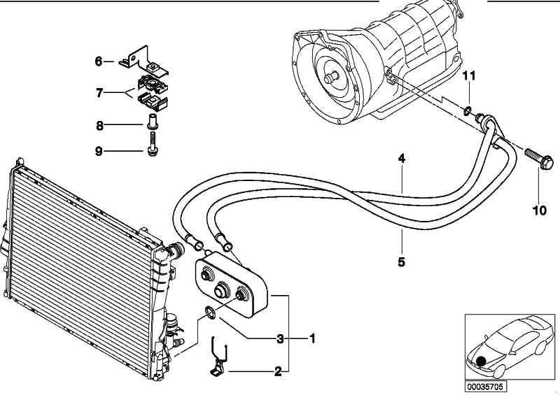 Ölkühlerleitung Rücklauf A5S 360R        3er  (17222249783)