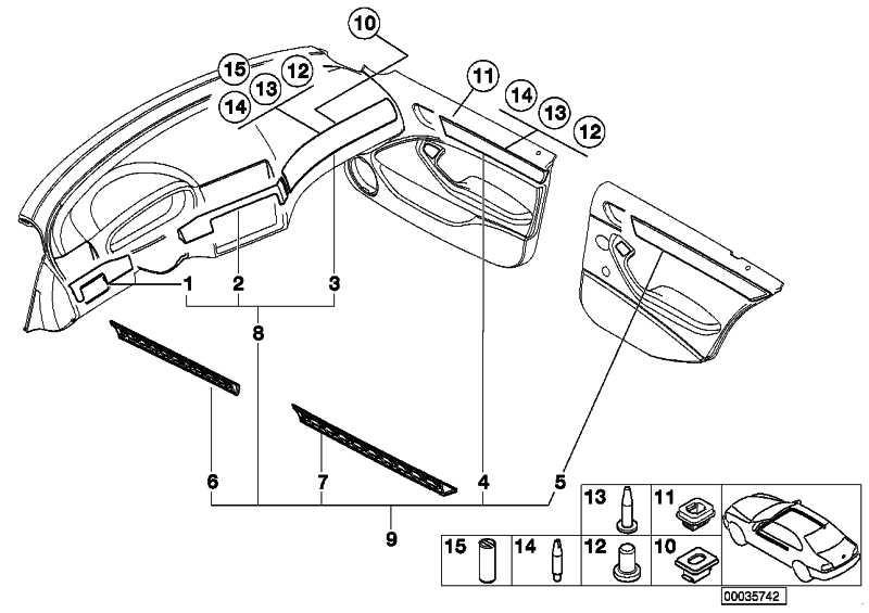 Dekorleiste Tür vorne links SCHWARZ HOCHGL. 3er  (51418235225)