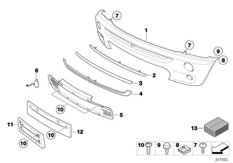Verkleidung Stossfänger grundiert vorn  MINI  (51111177877)