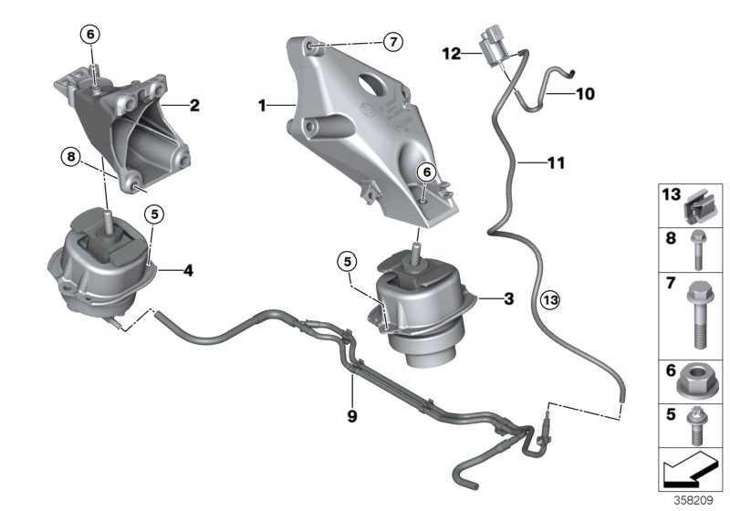 Motorlager links  X5  (22116867033)
