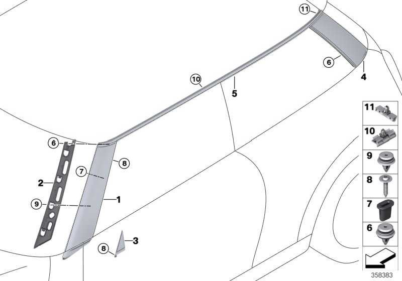 Blende C-Säule rechts  MINI  (51137300014)