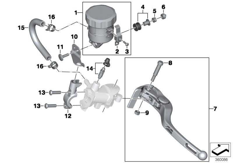 Halter Ausgleichsbehälter Bremse   (32728546824)