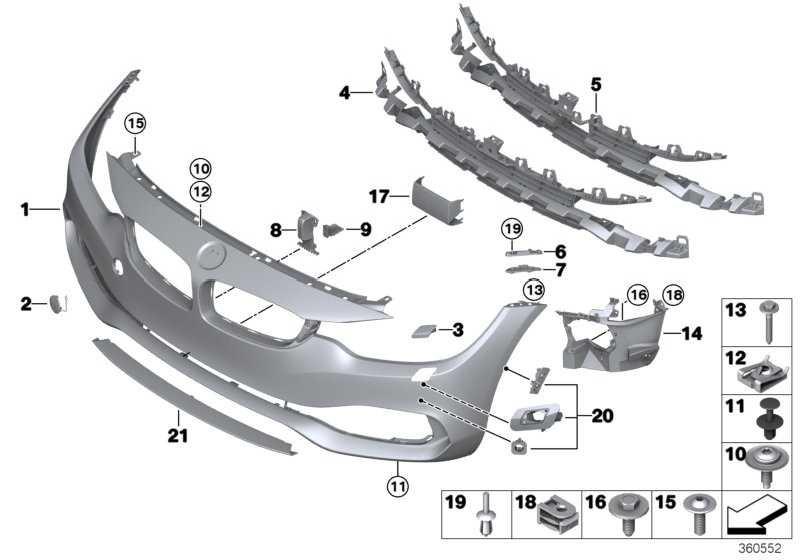 Verkleidung Stossfänger grundiert vorn SRA             4er  (51117363275)