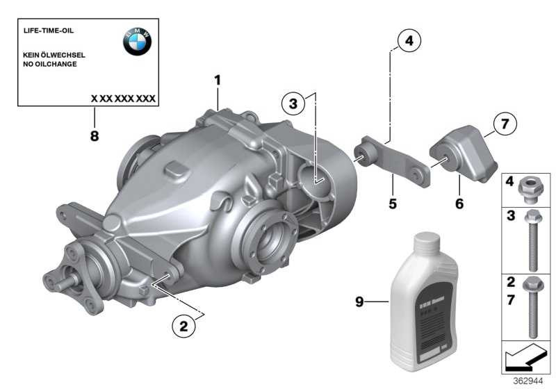 Hinterachsgetriebe I=3,91 X1  (33107592987)