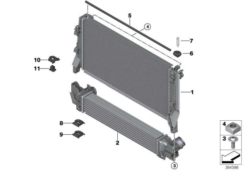 Halter Modul links  MINI 2er X1  (17118617884)