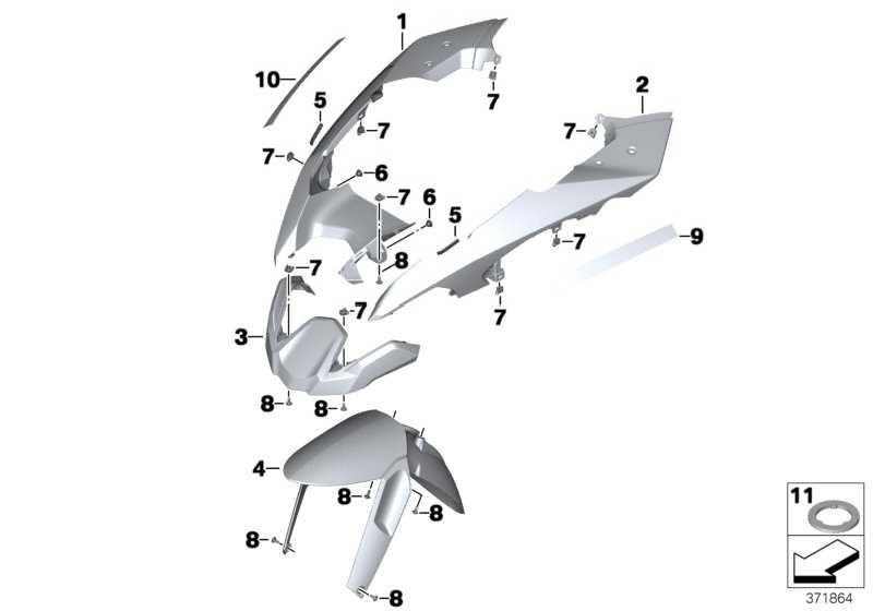 Vorderradabdeckung grundiert rechts   (46618532214)
