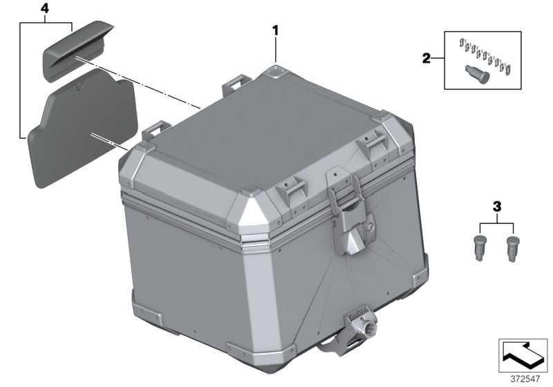 Aluminiumtopcase  K51  (77438562407)