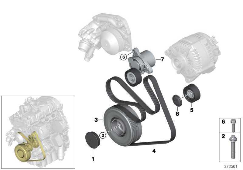 Riemenspanner mechanisch  1er 2er 3er 4er 5er X3 X4 X5  (11287619248)