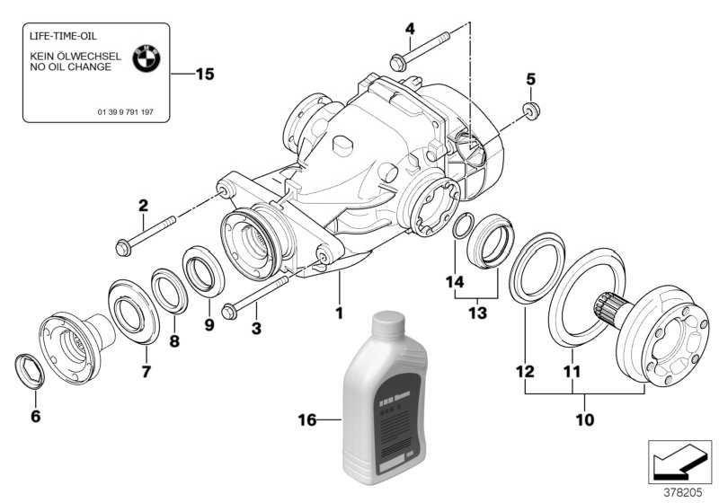 Hinterachsgetriebe mit Sperre I=3,62 5er 6er  (33102284030)