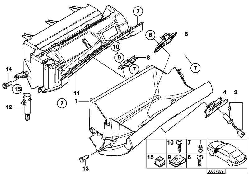 Dämpfer Handschuhkasten  3er X5 Z4  (51168224806)